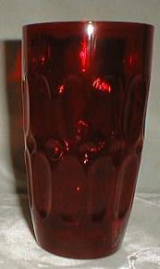Fostoria Mesa Tumbler in Ruby Red