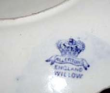 Allertons Blue Willow Cup Saucer