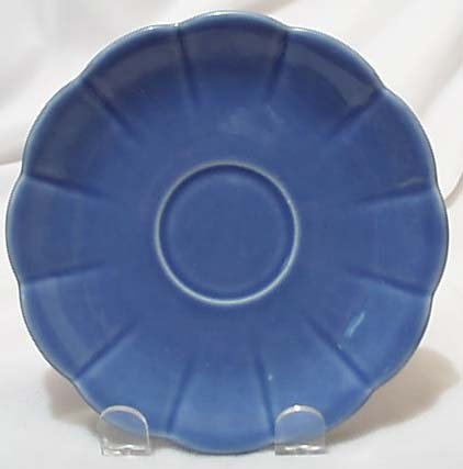 W S George petalware saucer in blue