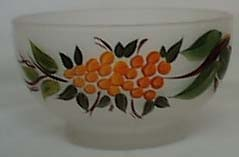 Anchor Hocking Handpainted Salad Bowl