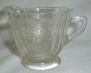 Federal Madrid Footed Creamer, Crystal