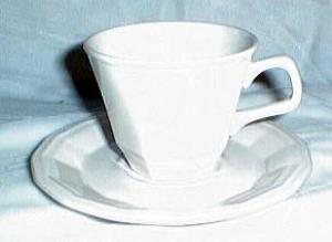 Homer Laughlin Colonial White Cup & Saucer