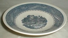 Anchor hocking Currier & Ives cereal bowl