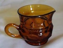 Colony Color Crown Creamer in Amber