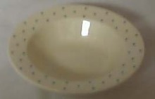 Homer Laughlin Polka Dots Soup bowl