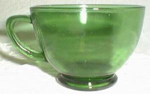 Anchor Hocking Coffee Cup Forest green