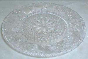 Indiana Sandwich Antique Lace Luncheon Plate