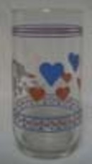 Luminarc Hearts & Geese Water Tumbler.