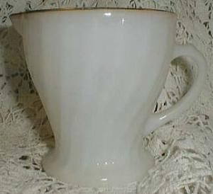 Anchor Hocking Golden Swirl Creamer