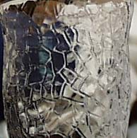 L.E. Smith Crackle juice glass in Crystal.