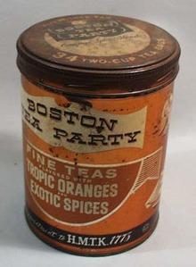 Boston Tea Party Tin, Nice old tin
