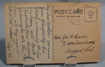1947  Muscle Shoals Alabama Post Card