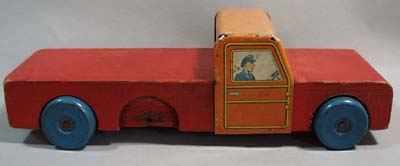 Old wood & tin truck