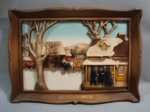 Syroco Decorative Amish Picture entitled Thanksgiving Visit