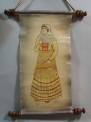 Leather Scroll, Oriental Woman