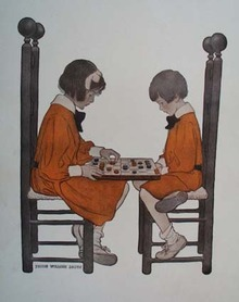 1908 A Friendly Game by Jessie Wilcox Smith Print