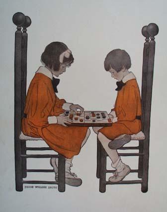1908 A Friendly Game by Jessie Wilcox Smith Print