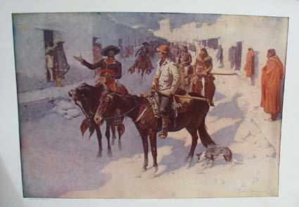 1908 A spanish Escort by Frederic Remington Print, Original print
