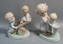 Homco Co.  Figurines Drinking Fountain