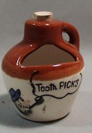 Hillbilly Toothpick holder in shape of jug
