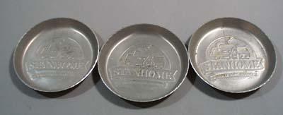 3 stanhome aluminum coasters