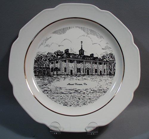 Mount Vernon VA Souvineer Plate