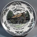 The Ozarks Old Matt's Cabin Souvineer Plate