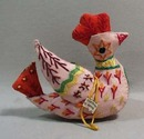 Dove hand stitched Christmas Ornament from the Republic of China