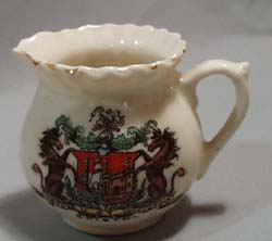 Mini creamer S H & sons England Heraldic china