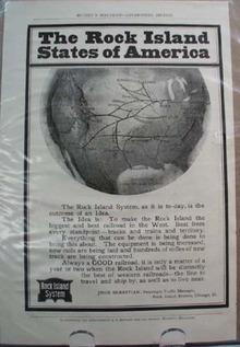 Rock Island System Railroad Ad Outcome of an Idea