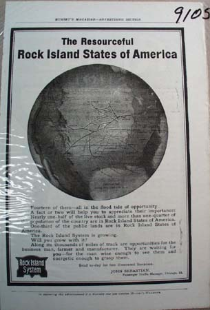 Rock Island System Railroad Ad The Resourceful Rock