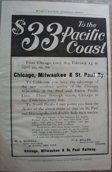 Chicago. Milwaukee & St Paul RR Ad