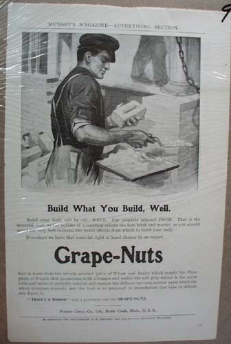 Grape-Nuts Ad Build What You Build