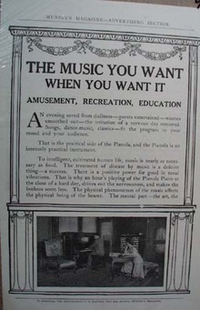 Pianola Piano Ad The Music You Want When You Want it