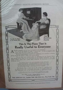 Pianola Piano Ad. Really Useful to Everyone