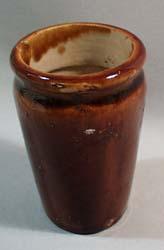 Mini stoneware creamer crock