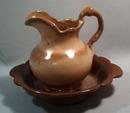Frankoma pitcher and bowl decorative set