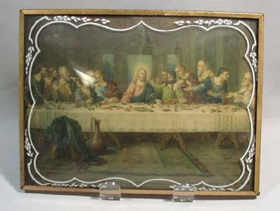 The Lords supper print in frame