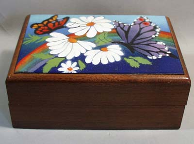 Decatur Industries Walnut Pipe tobacco box