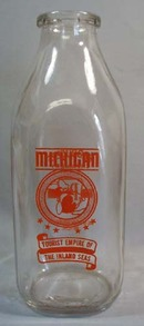 Producers Creamery Benton Harbor Mich quart milk bottle
