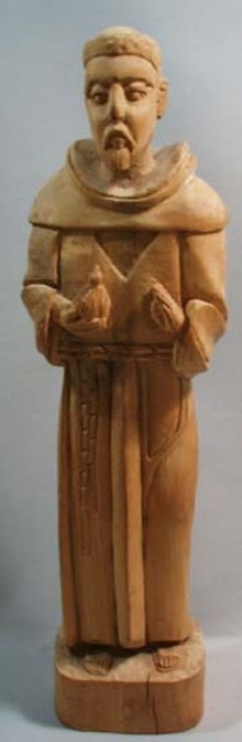 St Frances Wood Carved Statue