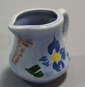Advertising Creamer for Cupids Cave, Tenn, VA , KY