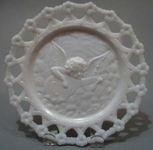 Westmoreland Angel Plate with forgetmenot border
