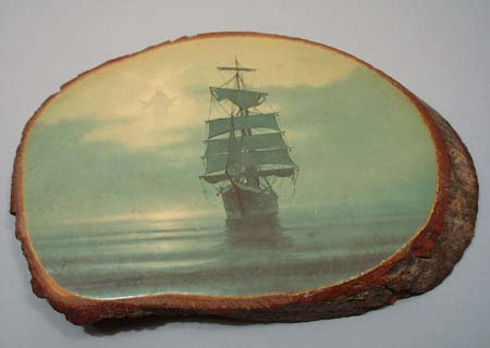 Pine Wood wall hanging, Calming the Sea
