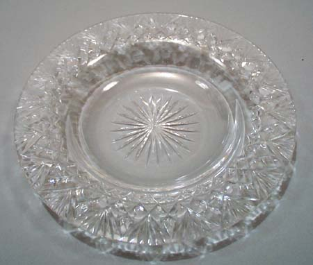 Cut glass cheese dish