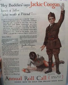 Junior First Aid Legion Jackie Coogan Ad 1927