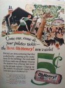 Oh Henry Candy Five Cents Ad 1928