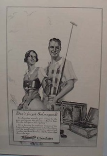 Whitman's Chocolates Don't Forget Ad 1927
