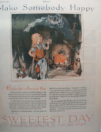 Cinderella's Sweetest Day Ad 1927