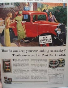 Duco Polish for Cars Swanky Ad 1933